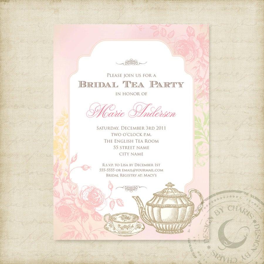 Afternoon Tea Printable Invitation