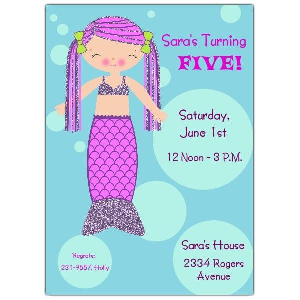 Ariel-littlemermaid -friend Printable Invitation