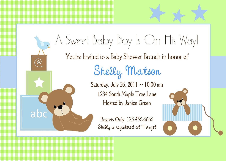 Baby Boy Babyshower Invitation Template
