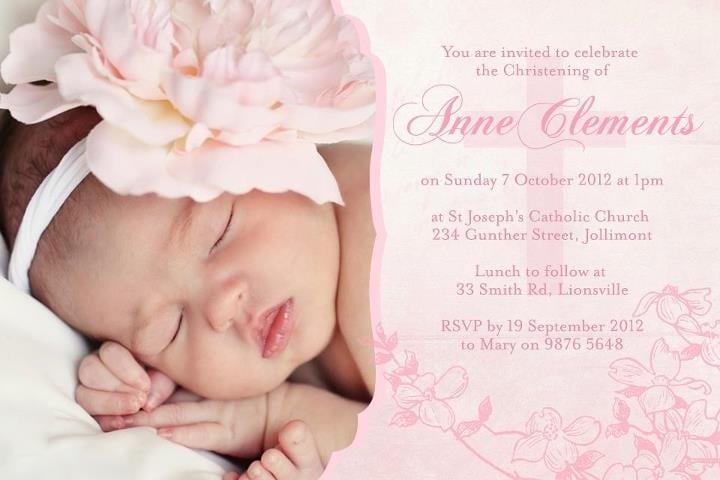 Baby Christening Invitation Ideas