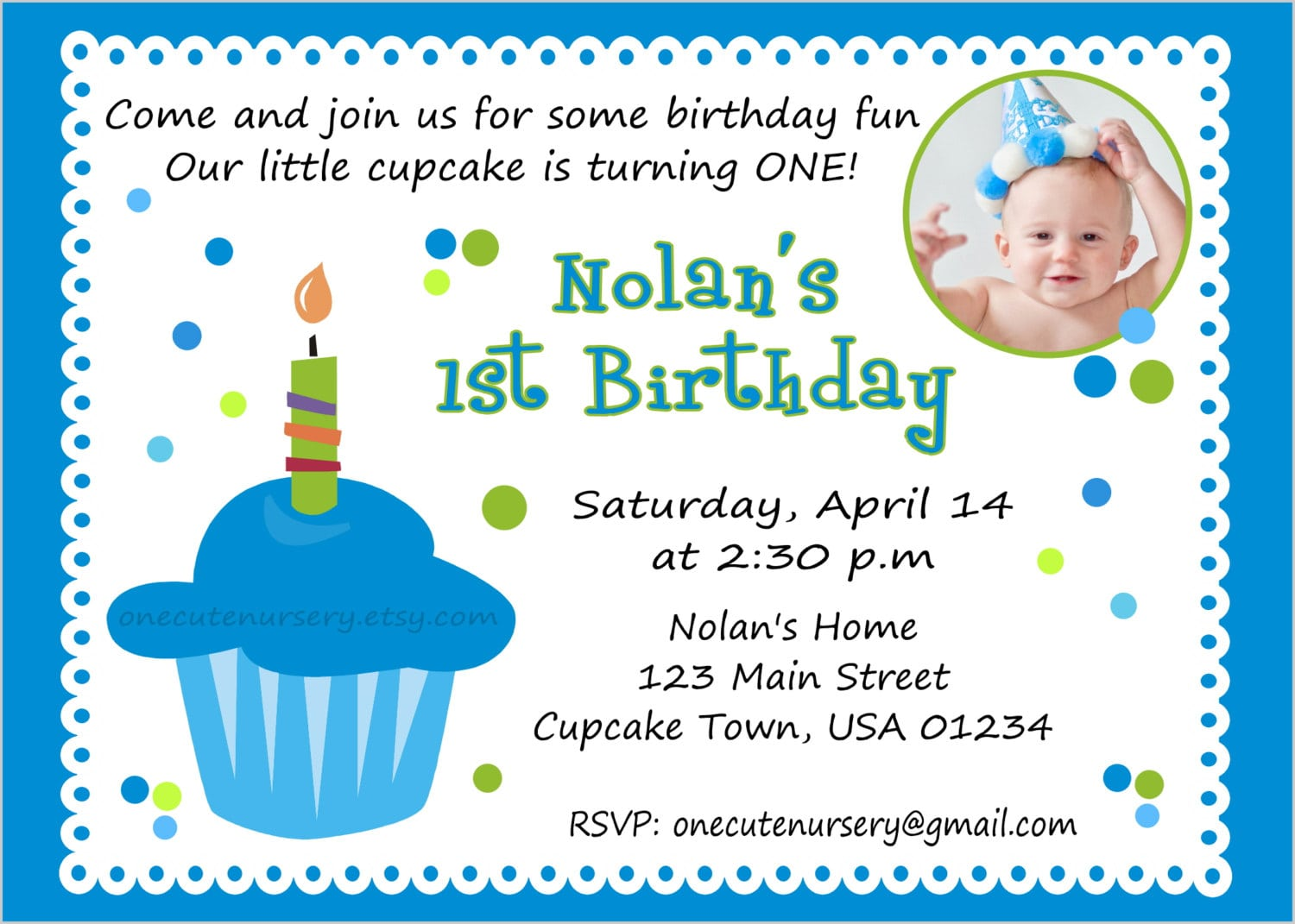 Baby First Birthday Invitation Template Free