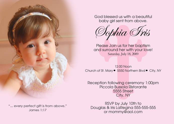 Baby Girl Baptism Invitations – gangcraft.net