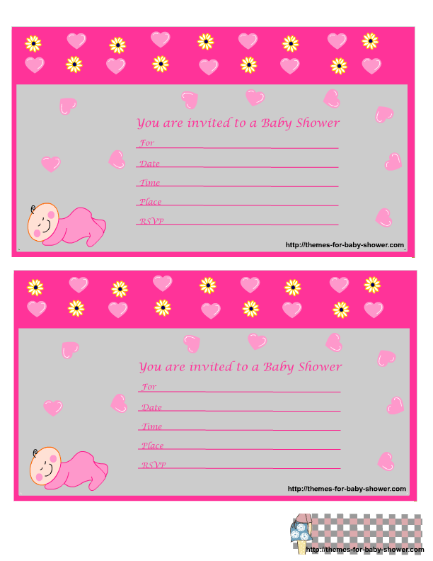 Baby Girl Shower Invitations Free Printable