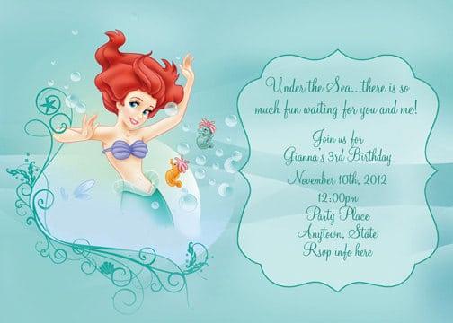 Baby Little Mermaid Invitation