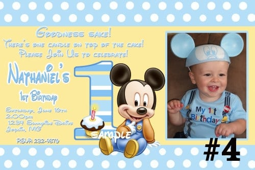 Baby Mickey Invitations