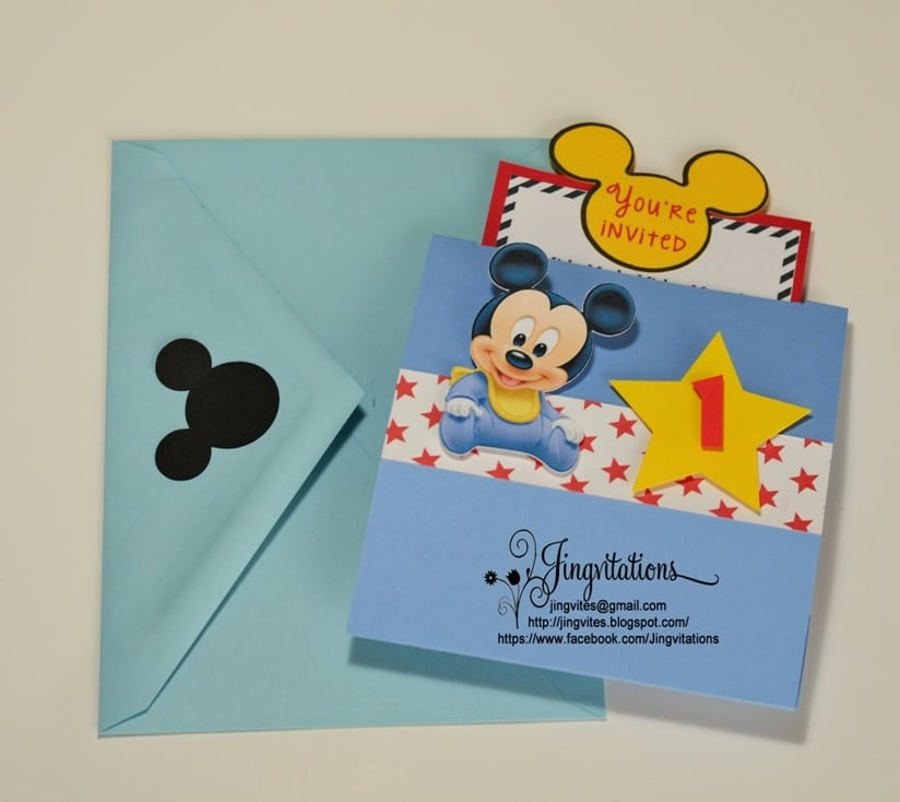 Baby Mickey Party Invitations