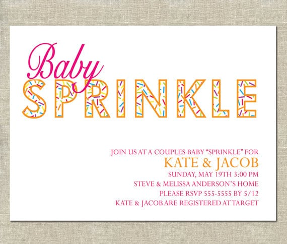 Baby Sprinkle Invitation Free Template