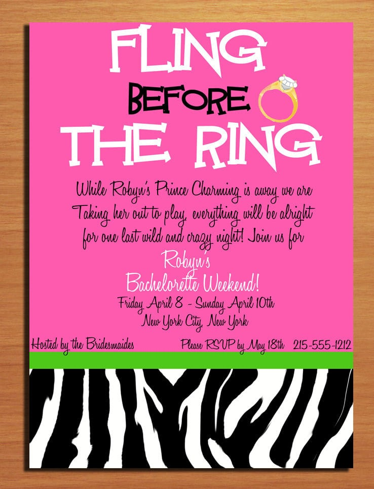 bachelorette party invitation template. Black Bedroom Furniture Sets. Home Design Ideas