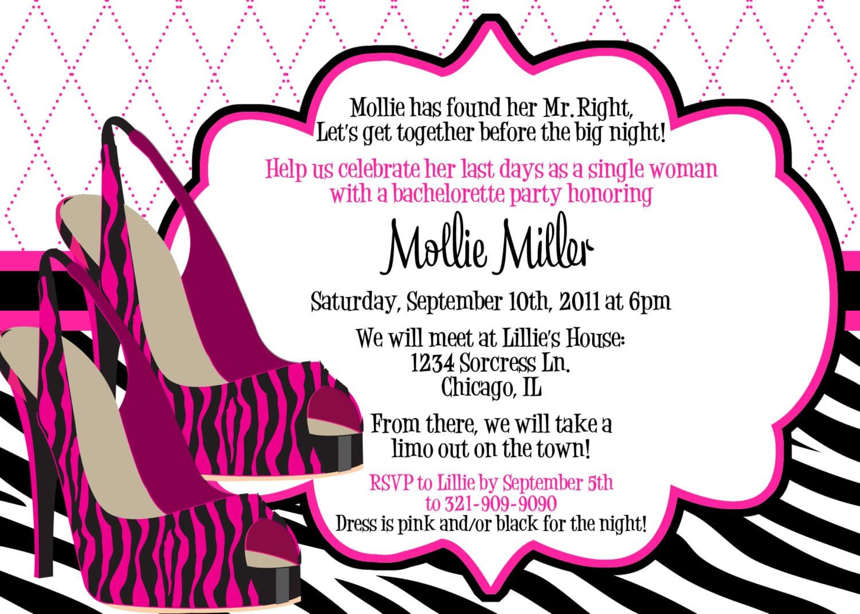 Bachelorette Party Invitation Wording