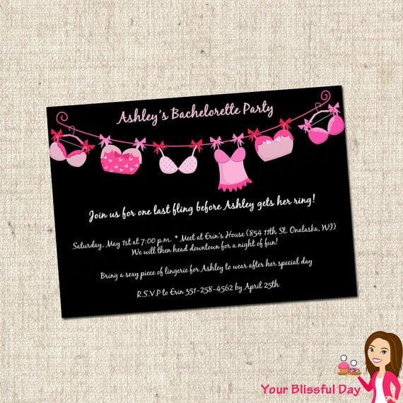 Bachelorette Party Invitations Free Printable