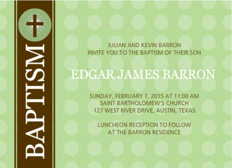 Baptism Invitation Cards Wording