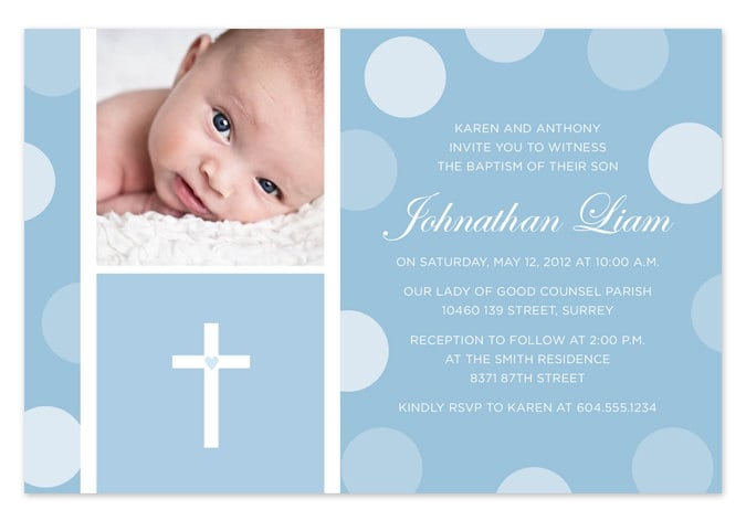 Baptism Invitation Template For Baby Boy