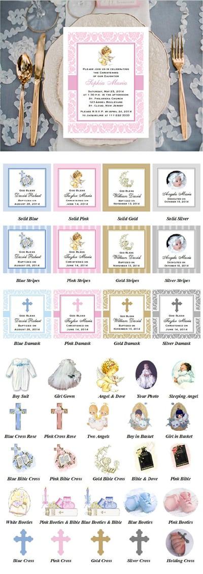Baptism Invitations & Christening Invitations