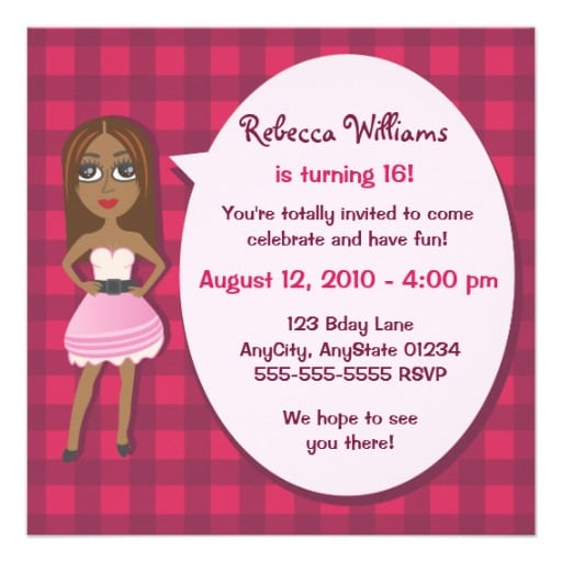Invitation card for teens birthday invitation card for teens bookmarktalkfo Gallery