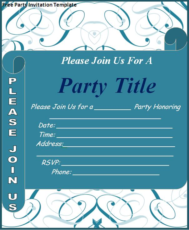 Birthday Invitation Card Template Free Download