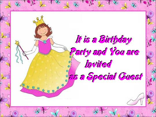 Birthday Invitation Cards For Kids