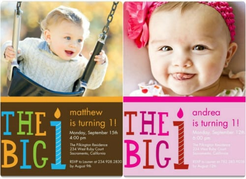 Birthday Invitation Cards For One Year Baby
