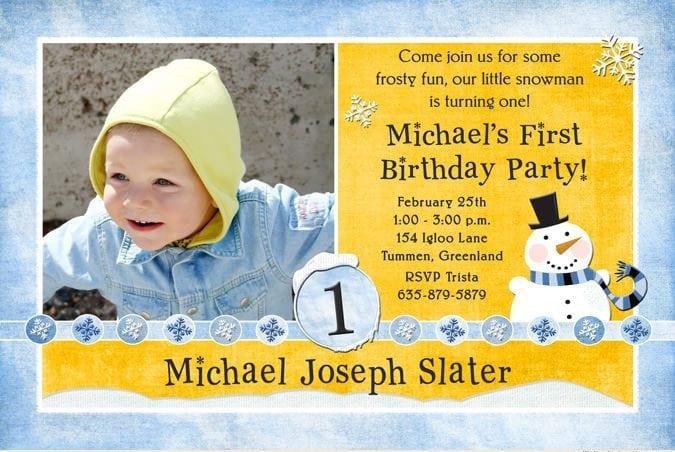 Birthday Invitation Cards For One Year Baby Boy