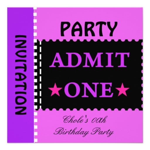 Birthday Invitation Cards For Teenagers