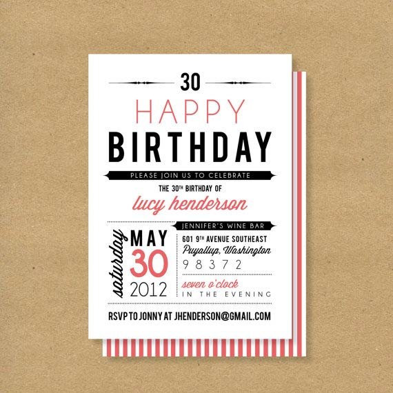 Birthday Invitation Designs For Adults