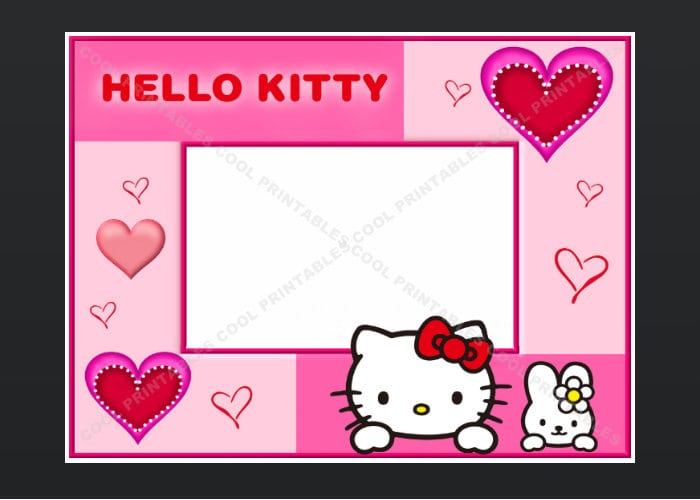 Birthday Invitation Hello Kitty Blank Layout