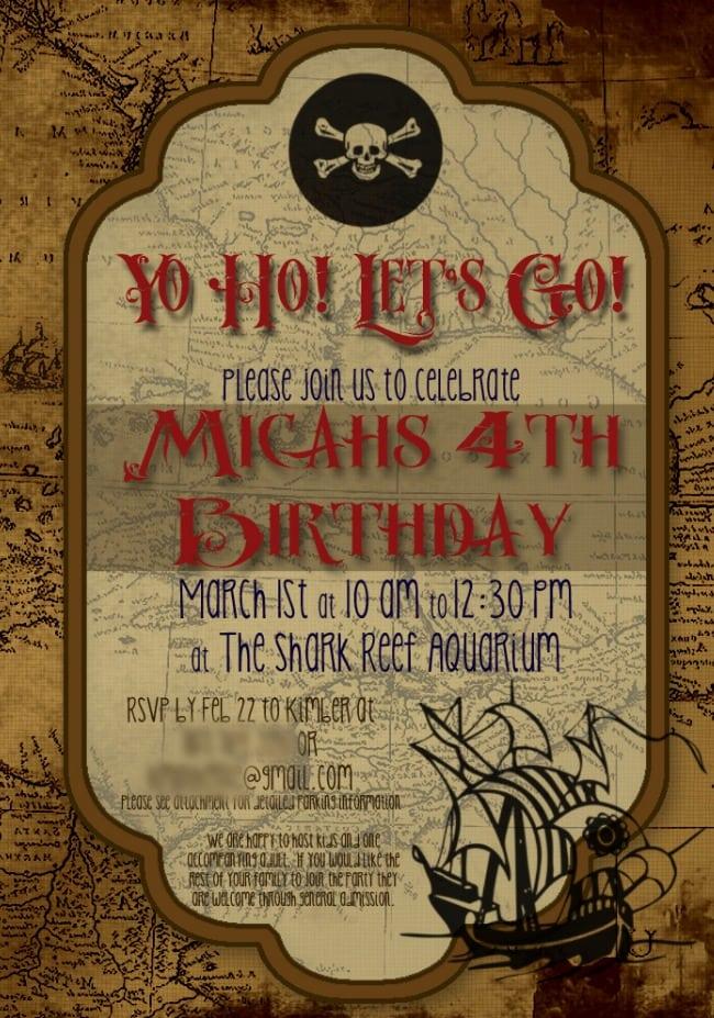 Birthday Party Invitation Download Free