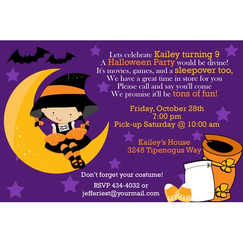 Birthday Slumber Party Invitations