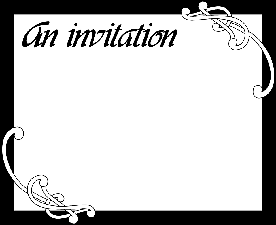 Blank Party Invitation Cards