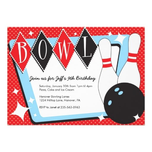 Bowling Party Invitation Free