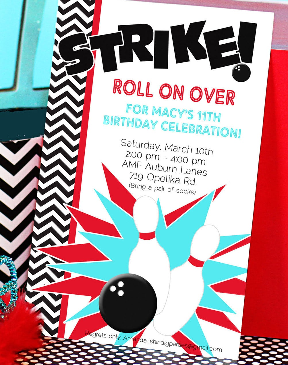 Bowling Party Invitation Free Download