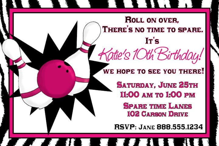 Bowling Party Invitations Free Online