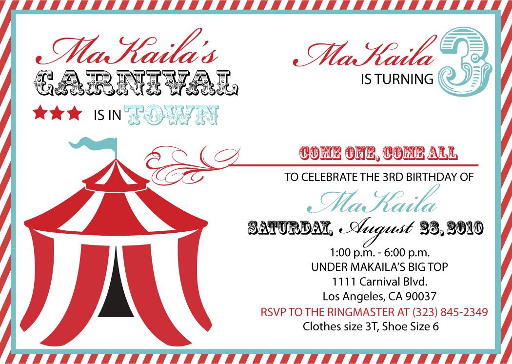 Carnival Invitation Template Free Download