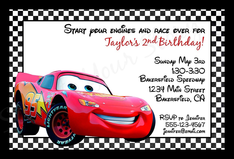 Cars Invitation Birthday