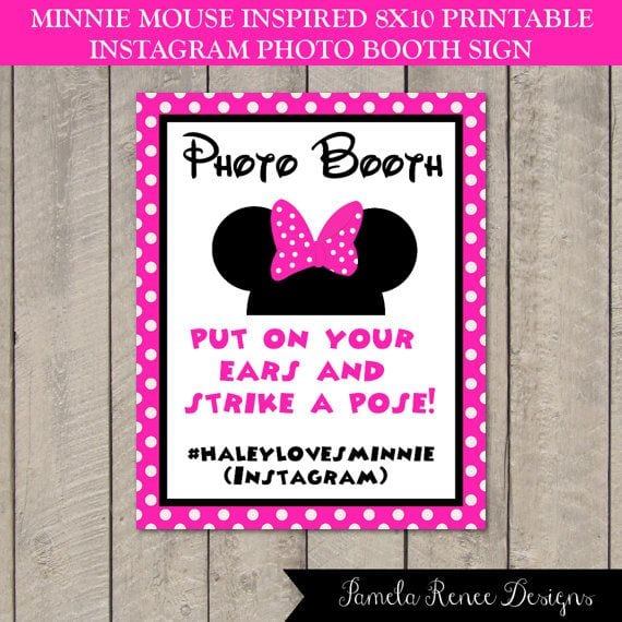 Cheap Personalized Minnie Mouse Invitations