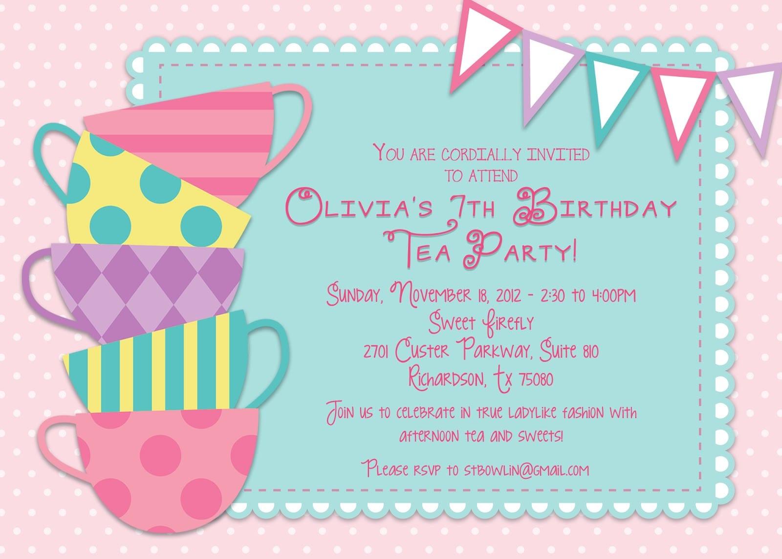 Children  S Birthday Invitation Wording