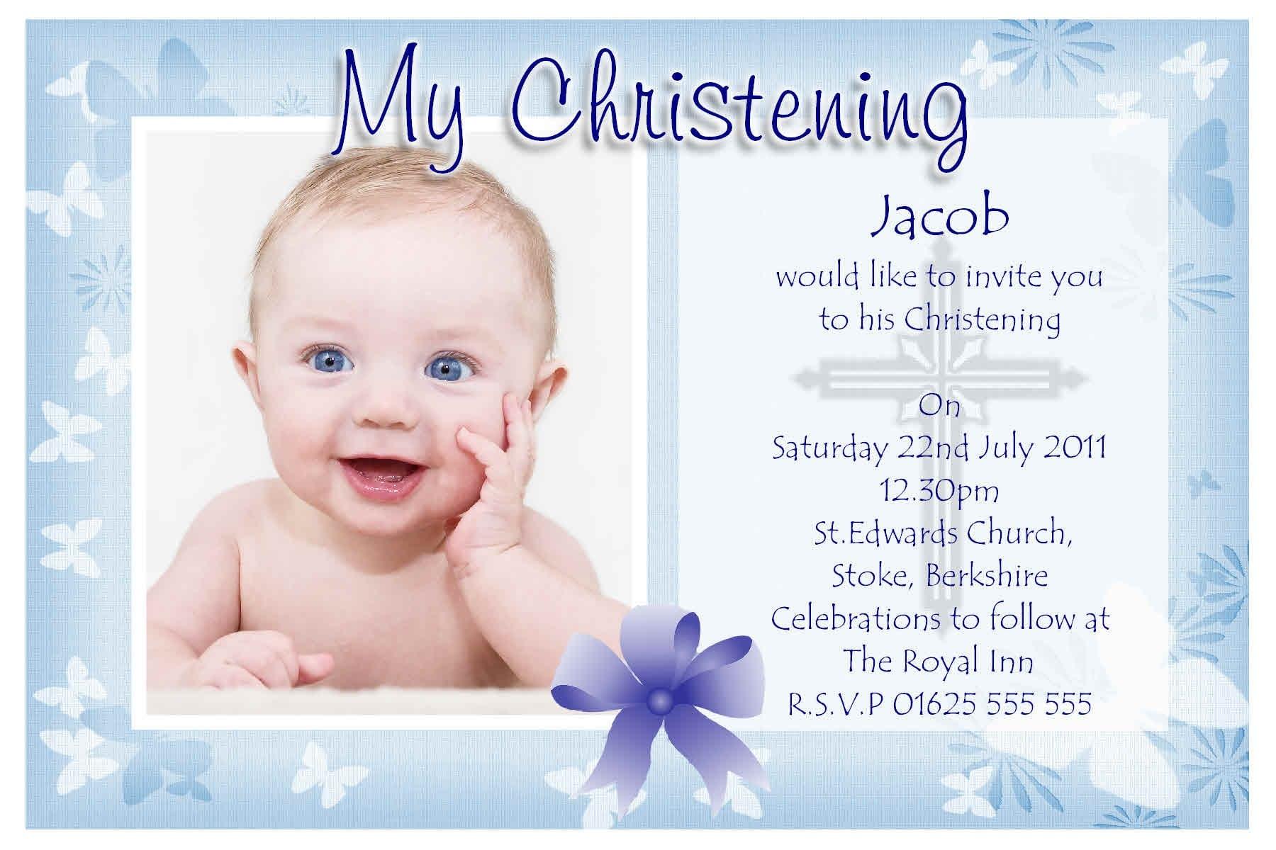 Christening Invitation Template Free