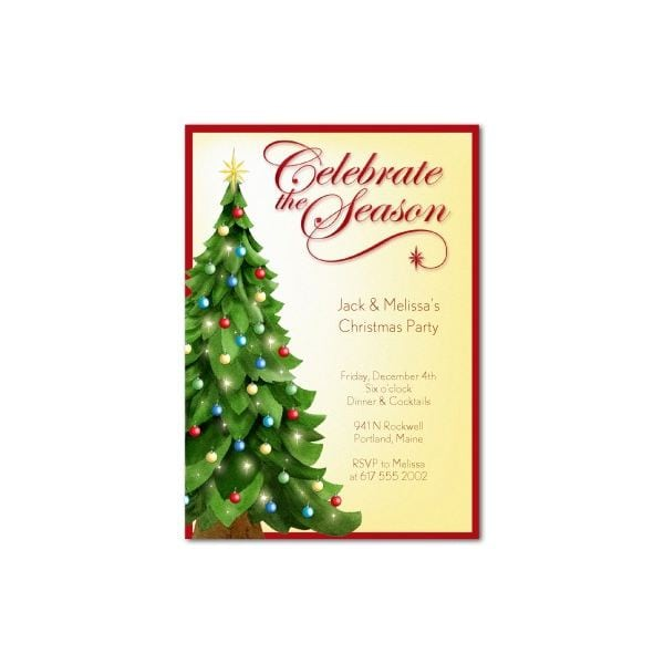 Luncheon invitation template free for Free christmas invitation templates