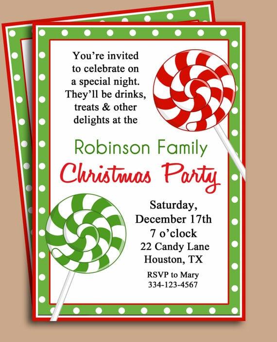 Christmas Party Invitation Templates Free Printable