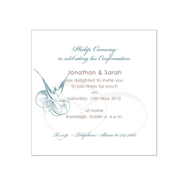 confirmation invitations templates