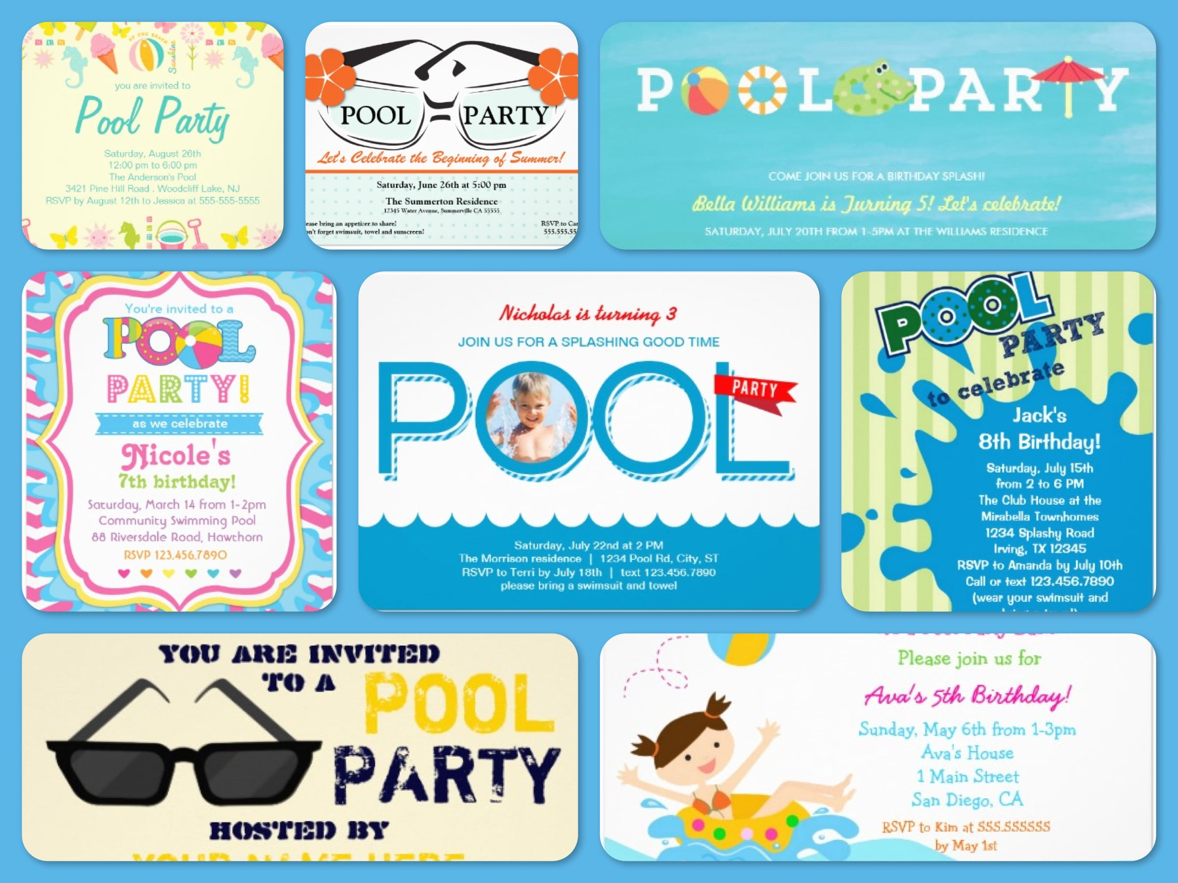 Cool Invitations For A Pool Party