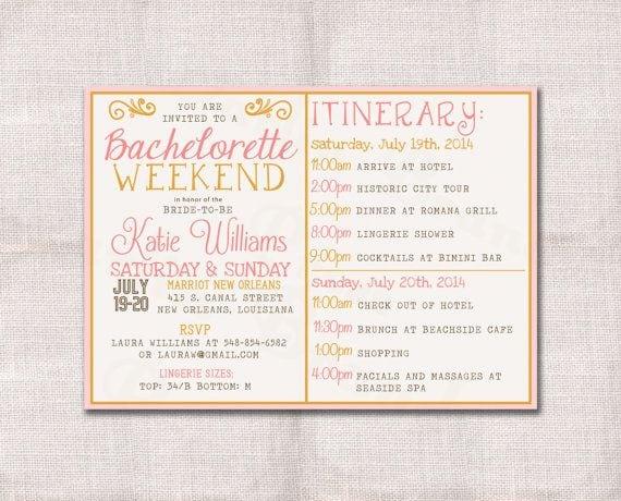 Custom Bachelorette Party Invitation Template