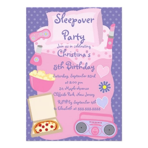 Cute Sleepover Party Invitations