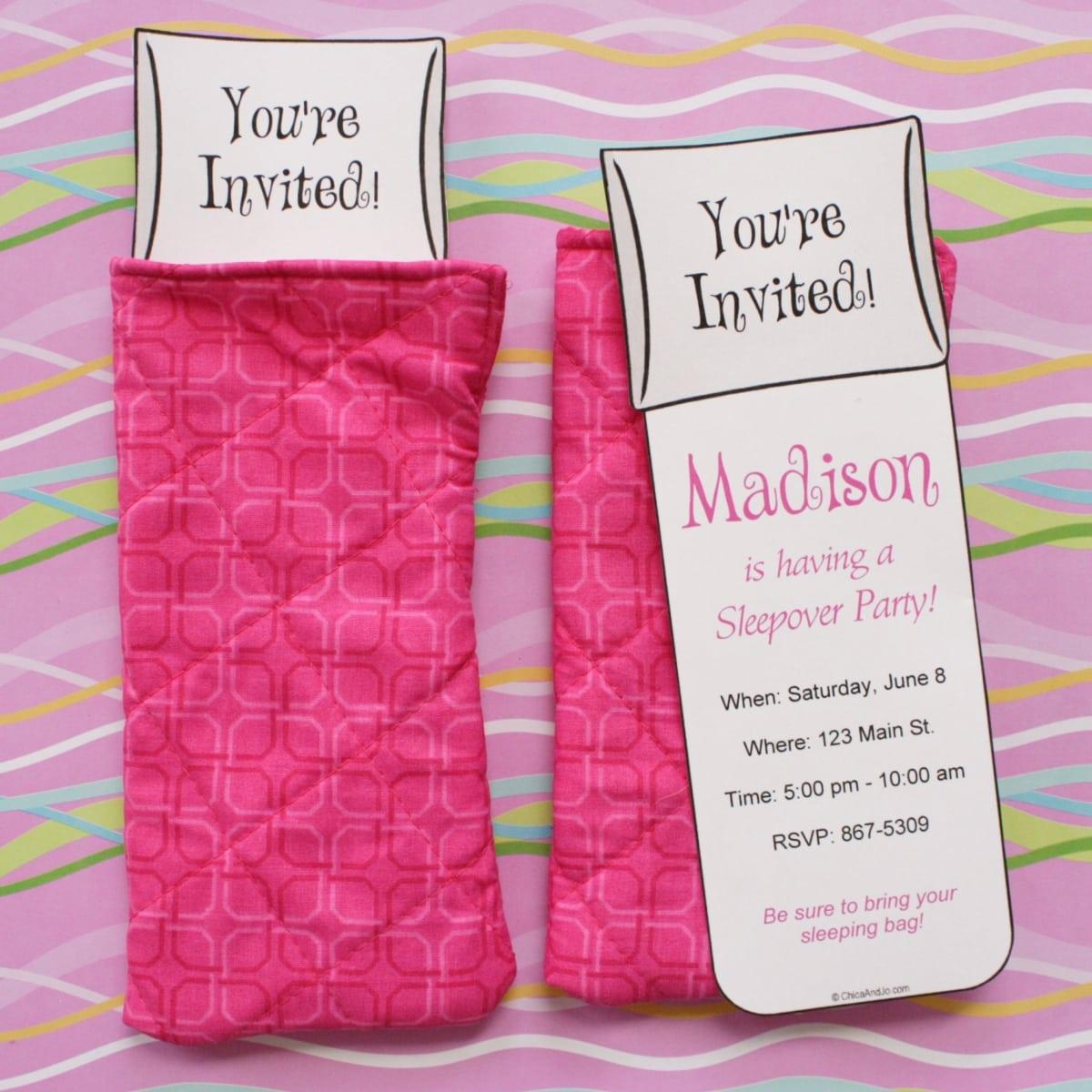 Cute Slumber Party Invitation Ideas