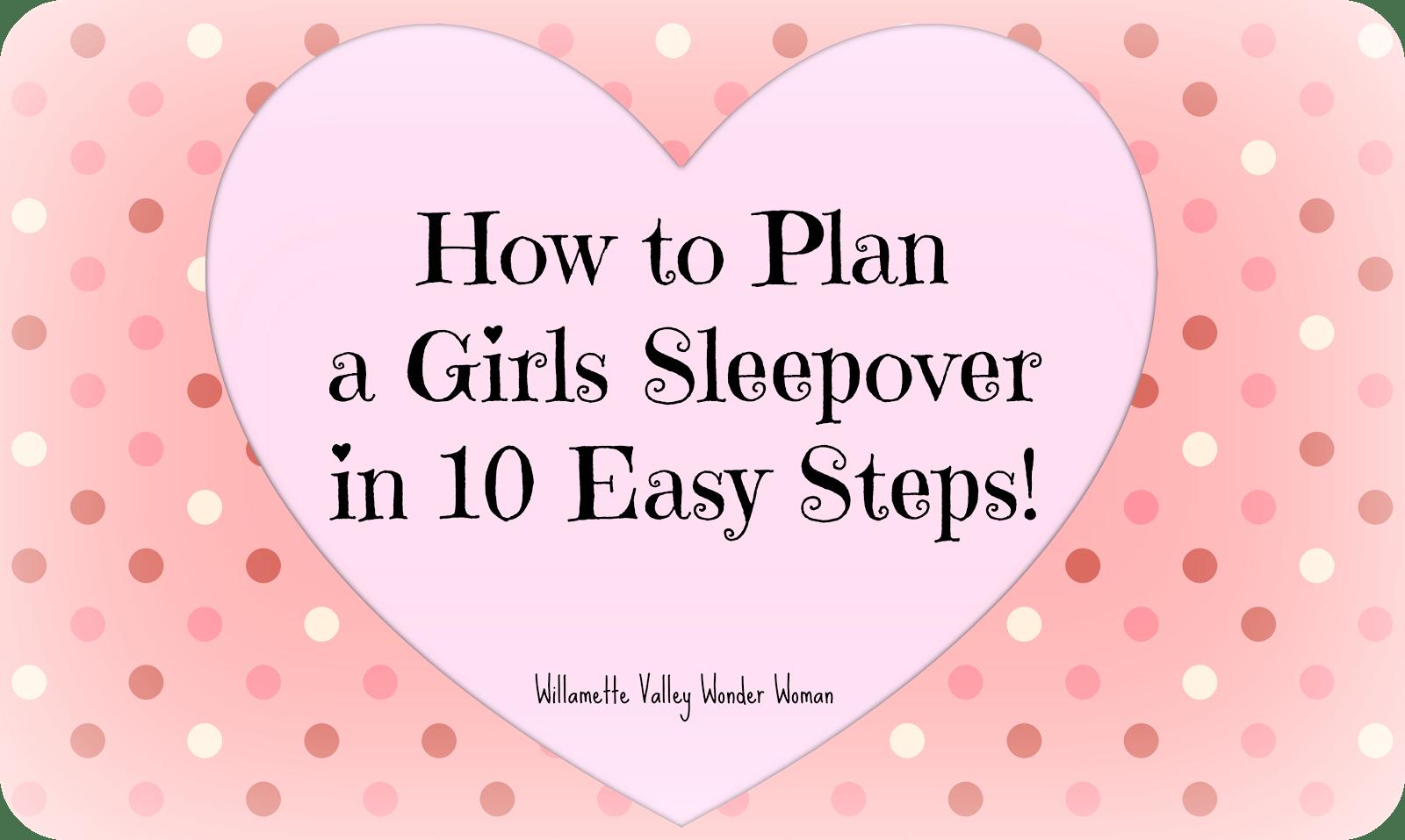 Girls Sleepover Party Invitation