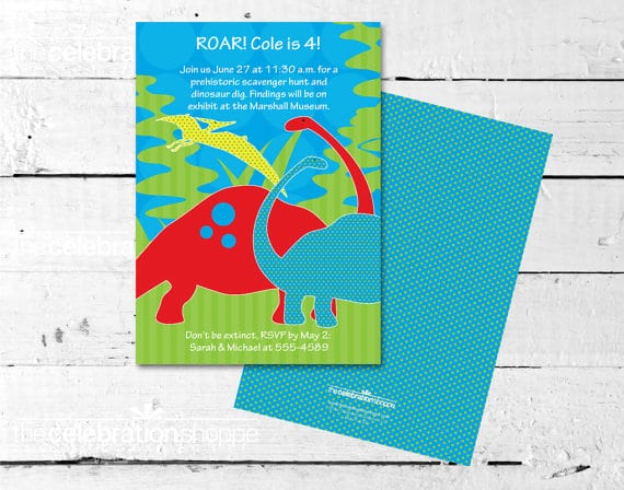 Dinosaur Birthday Party Invitation Printable