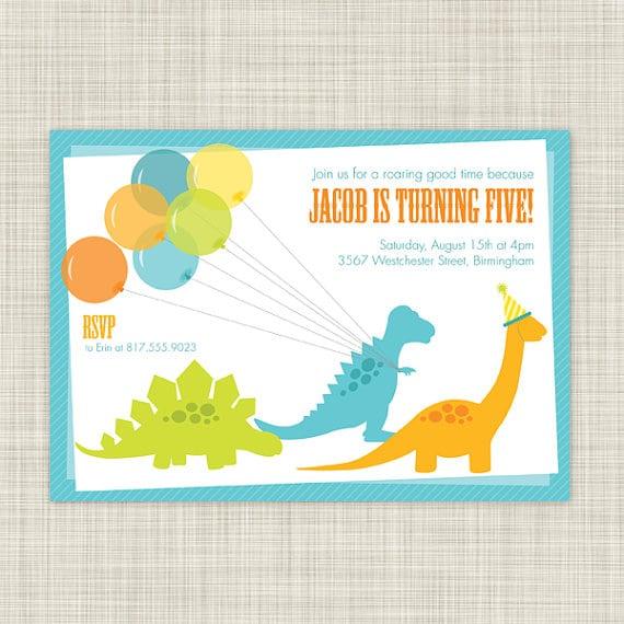 Dinosaur Birthday Party Invitations Printable
