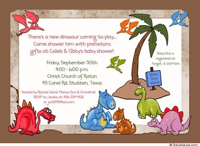 Dinosaur Party Invitation Ideas