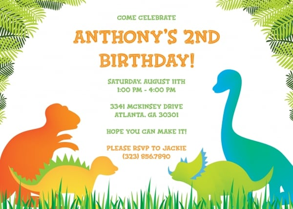 Dinosaur Party Invitation Template