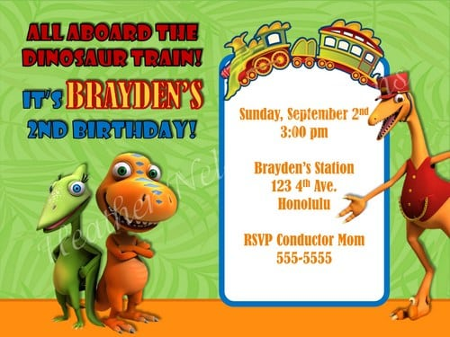 Dinosaur Party Invitation Template Free