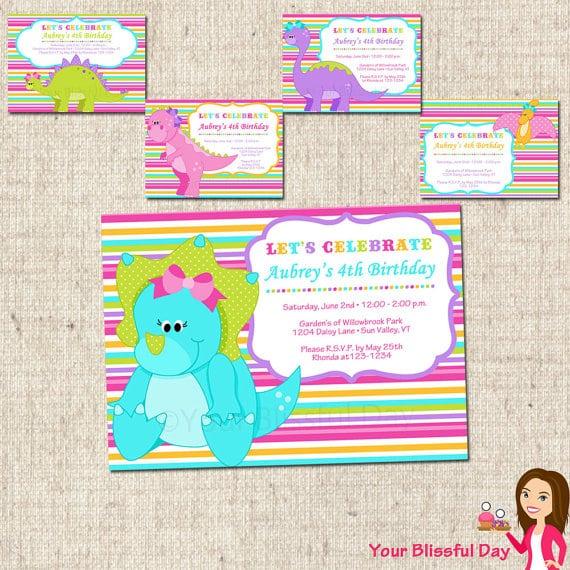 Dinosaur Party Invitations Printable